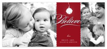 Santa's Bell Holiday Photo Cards
