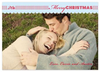 Modern Dots Holiday Photo Cards