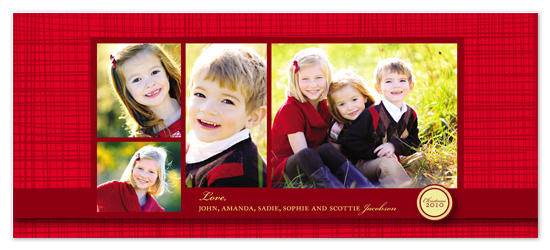 holiday photo cards - Red Stripes by Bethany Anderson
