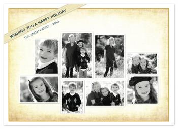 beri multi oldstyle Holiday Photo Cards