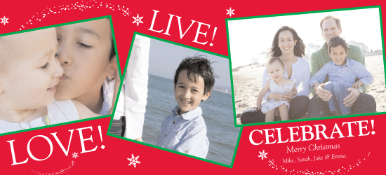 holiday photo cards - Love! Live ! Christmas!  by Cynthia Dooley