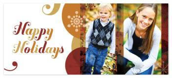 Happy Curlz Holiday Photo Cards