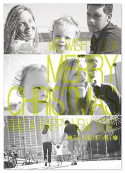 Contrast/Bold Type Holiday Photo Cards