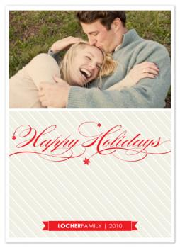 Holiday Snowflakes Holiday Photo Cards