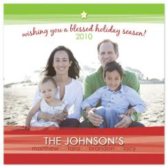 Blessed Season Holiday Photo Cards