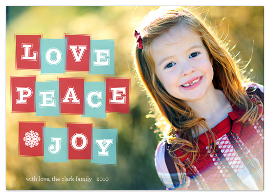 holiday photo cards - retro joy by Waui Design
