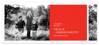 Modern panel Holiday Photo Cards