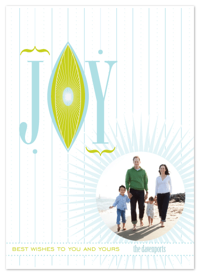 holiday photo cards - Joy* Best wishes to you and yours by Tanyia Johnson