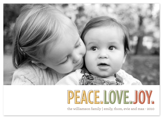 holiday photo cards - three words by Waui Design