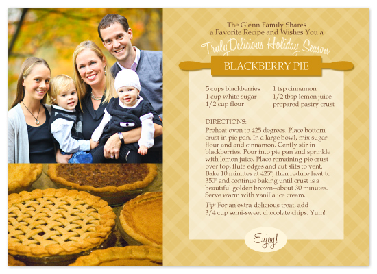 holiday photo cards - our favorite recipe by Karen Glenn