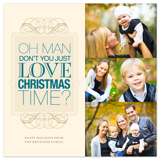 holiday photo cards - Oh Man by OrangeBeautiful