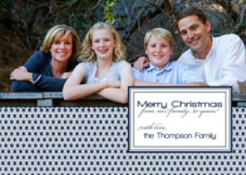 Postage Edge Holiday Holiday Photo Cards