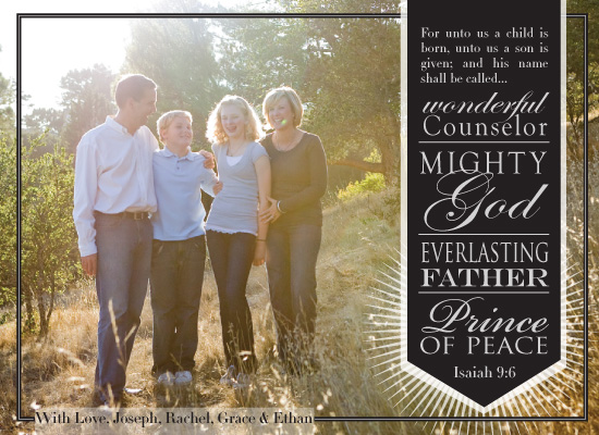 holiday photo cards - And He Shall Be Called... by Rachel Carmichael