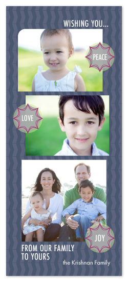 holiday photo cards - Bursting With Peace Love + Joy by OrangeBeautiful