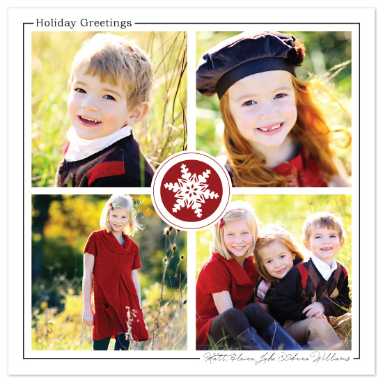 holiday photo cards - Snowflake Greetings by Rachel Carmichael