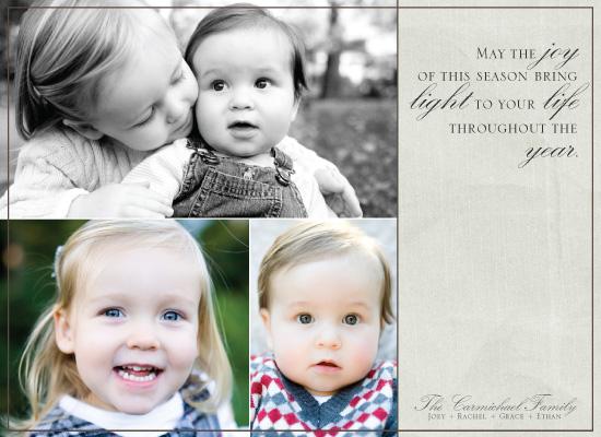 holiday photo cards - Joy - Light - Life by Rachel Carmichael