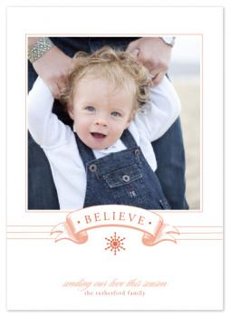 Believe Holiday Photo Cards