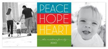 float + peace.hope.heart Holiday Photo Cards