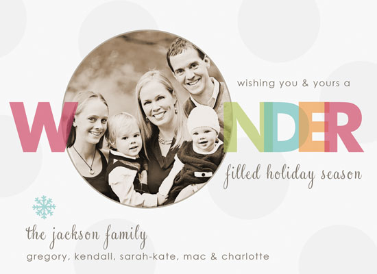holiday photo cards - jubilee by heather manor