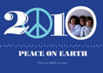 Peace on Earth 2010 Holiday Photo Cards
