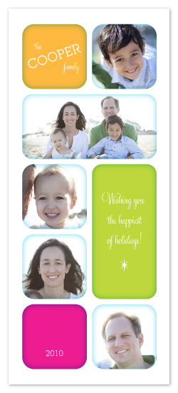 holiday photo cards - Neon Relish by 2birdstone