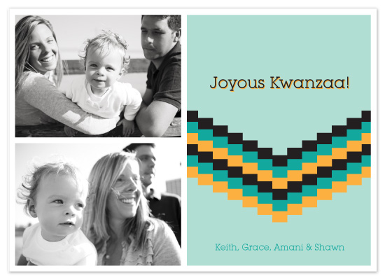 holiday photo cards - Joyous Kwanzaa