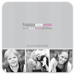 stylish new year Holiday Photo Cards