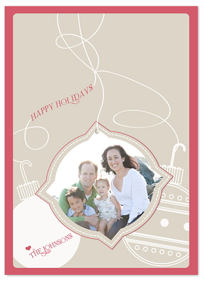 holiday photo cards - Holiday Ornaments by MAGG + LOUIE