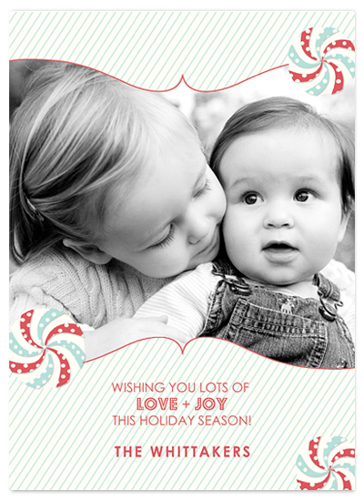 holiday photo cards - Peppermint Joy by MAGG + LOUIE