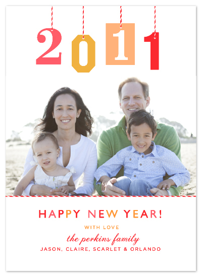 holiday photo cards - New Year Gift Tag by j.bartyn