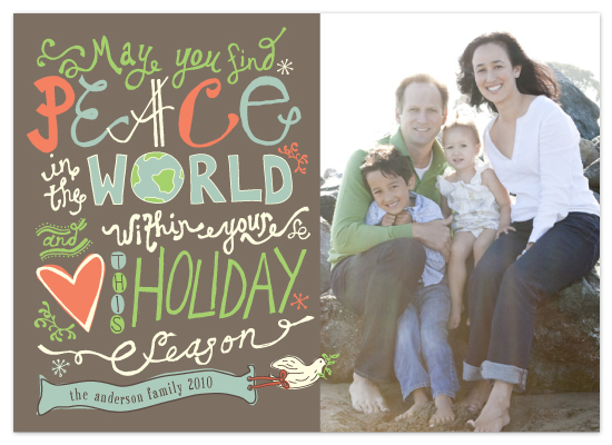 holiday photo cards - Love and Peace Eternal by Sydney Newsom