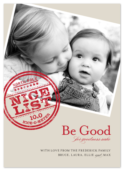 holiday photo cards - Nice List by Carrie ONeal
