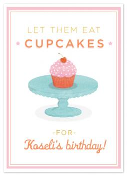 let them eat cupcakes Birthday Cards