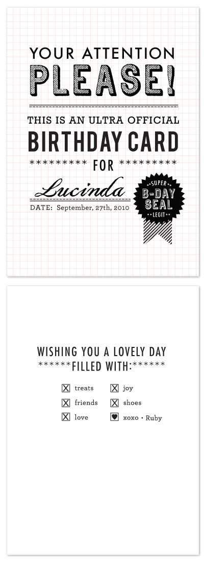 birthday cards - Ultra Official  by j.bartyn