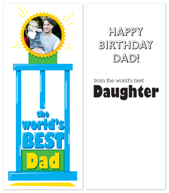 birthday cards - world's BEST trophy by Laura Hancko