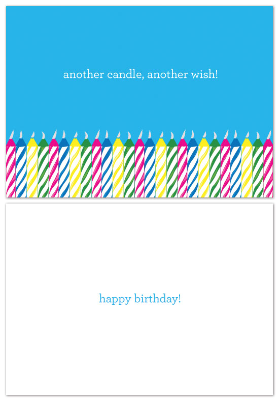 birthday cards - Wishing Candles by Laura Jett