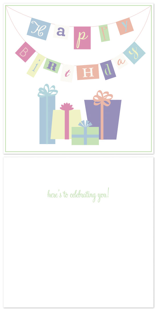 birthday cards - Birthday Banner by Laura Jett Walker