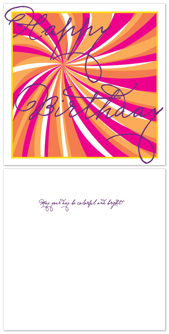 birthday cards - may your day be colorful and bright! by Laura Jett Walker