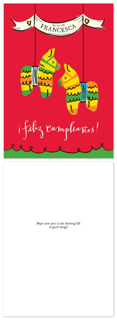 birthday cards - PInata by Lauren Fasnacht
