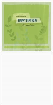 Green Leaves Birthday Cards