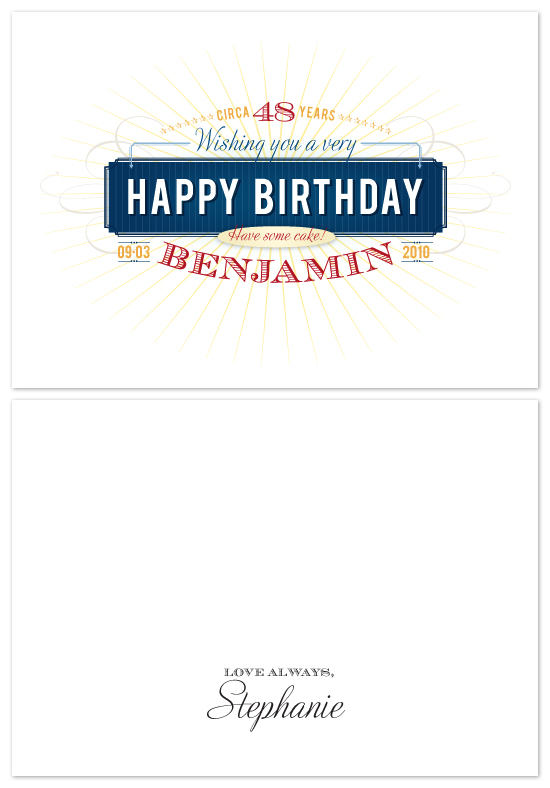 birthday letter borders. The Happy, Happy Birthday Card