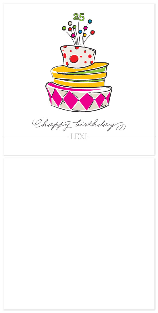 birthday cards - Topsy Turvy Cake by Laura Jett