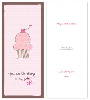 sweet cupcake Birthday Cards
