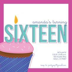 Happy cupcake Party Invitations