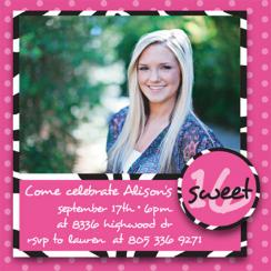 Scrapbooking Sweet 16 Party Invitations