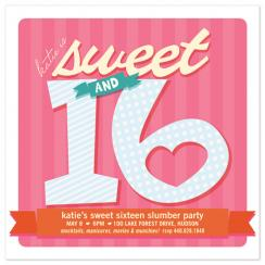 Sweet + Sixteen Party Invitations