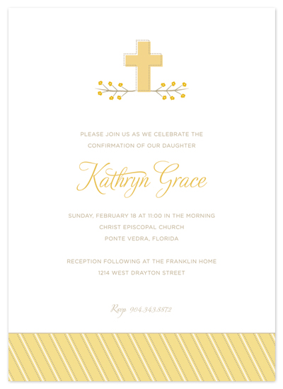 party invitations - sweet cross by Carrie Eckert