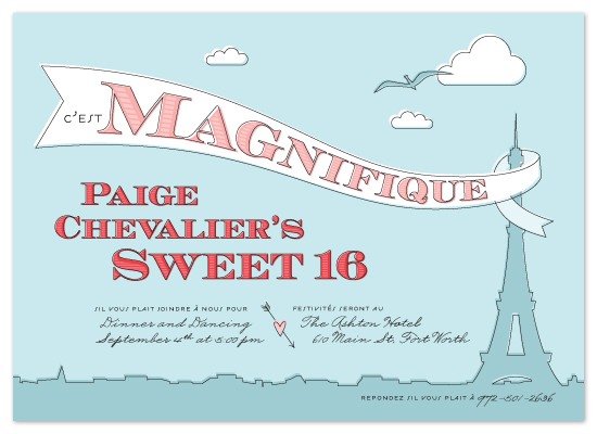 party invitations - c'est Magnifique by Ann Gardner