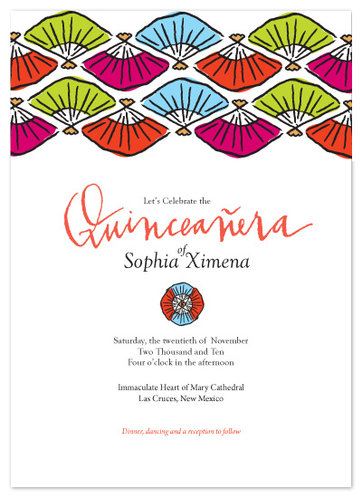 party invitations - Festive Abanico by Lauren Fasnacht