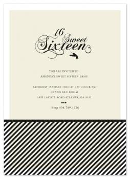 Midnight Bash Sweet Sixteen Invite Party Invitations